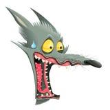 Lobo divertido ilustración del vector