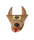 Lobo divertido hecho del pan Fotos de archivo libres de regalías