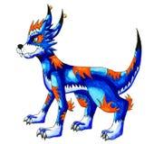 Lobo do azul da fantasia ilustração do vetor