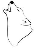 Lobo do urro ilustração do vetor