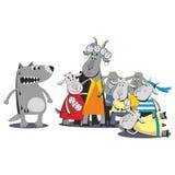 Lobo e sete cabras 07 Imagem de Stock Royalty Free