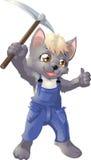 Lobo el minero stock de ilustración
