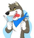 Lobo hambriento libre illustration