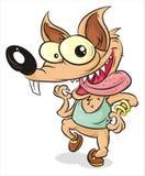 Lobo loco stock de ilustración