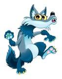 Lobo que camina divertido libre illustration