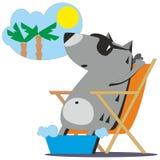 Lobo que sonha sobre as férias 04 Foto de Stock Royalty Free