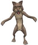 Lobo ruim ilustração stock