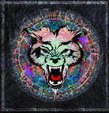 Lobo salvaje Stock de ilustración