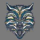 lobo selvagem no pop art ilustração do vetor