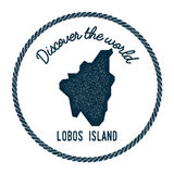 Lobos Island map in vintage discover the world. Stock Photos