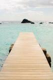 Lobos Island pier Royalty Free Stock Image