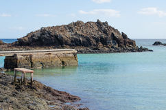 Lobos Island pier Stock Photography