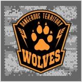 Lobos - los militares etiquetan, las insignias y diseño Foto de archivo libre de regalías