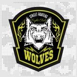Lobos - los militares etiquetan, las insignias y diseño Imagen de archivo libre de regalías