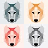 Lobos polivinílicos bajos fijados ilustración del vector