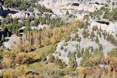 Lobos river Canyon, Soria (Spain) Royalty Free Stock Images