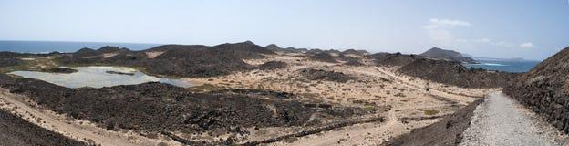 Loboseiland, Fuerteventura, Canarische Eilanden, Spanje Royalty-vrije Stock Foto's