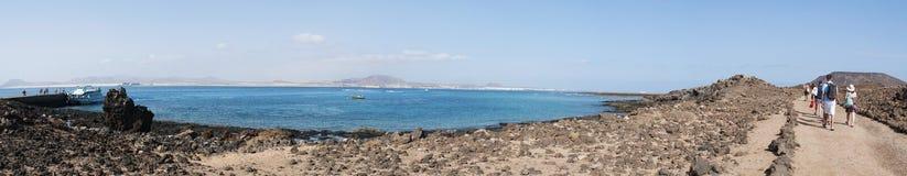 Loboseiland, Fuerteventura, Canarische Eilanden, Spanje Stock Foto's