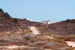 Loboseiland, Fuerteventura, Canarische Eilanden, Spanje Royalty-vrije Stock Afbeeldingen