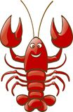 Lobster. A shiny lobster is smiling to you Stock Photos