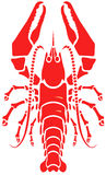 Lobster. Red cooked lobster in vector format Stock Photos