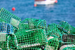 Lobster And Crab Traps Stack In A Port Royalty Free Stock Image