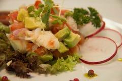 Lobster avocado salad Royalty Free Stock Photo