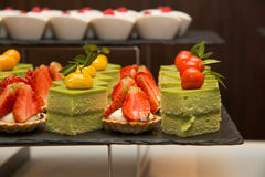 Lobster avocado salad Royalty Free Stock Image