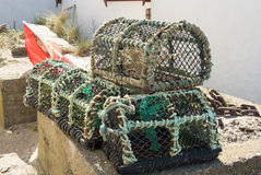 Lobster Baskets Stock Photos