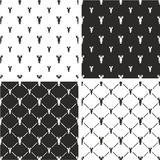 Lobster Big & Small Seamless Pattern Set Stock Photo