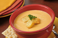 Lobster bisque with sherry Stock Image