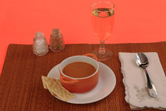 Lobster Bisque with White Wine Royalty Free Stock Photos