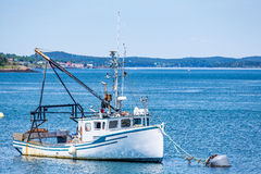 Lobster Boat at Anchor Royalty Free Stock Image