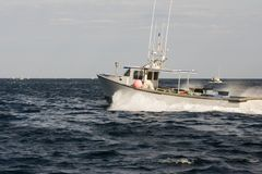 Lobster boat on the Atlantic Royalty Free Stock Photos