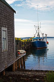 Lobster Boat at Dock Stock Images