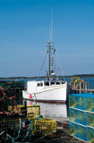 Lobster Boat at the dock Stock Photos