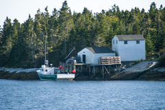 Lobster Boat in Nova Scotia Canada Royalty Free Stock Photography
