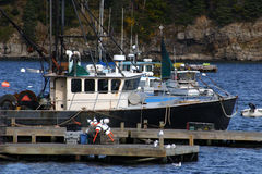 Lobster Boats Royalty Free Stock Photography