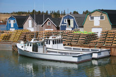 Lobster Boats Royalty Free Stock Image