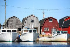 Lobster Boats royalty free stock photos