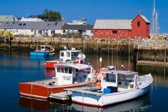 Lobster boats stock photos