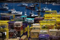 Lobster Boats in Maine Royalty Free Stock Images