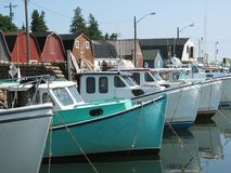 Lobster Boats1 Royalty Free Stock Photography
