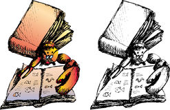 Lobster_book Stock Image