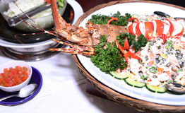 Lobster at buffet. Photograph of lobster at buffet Royalty Free Stock Photo