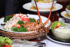 Lobster at buffet. Photograph of lobster at buffet Stock Photography