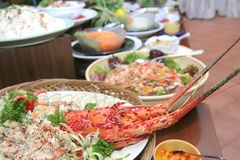 Lobster In Buffet Dinner Royalty Free Stock Photo