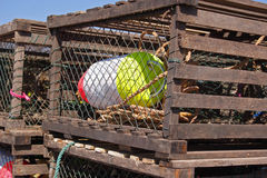 Lobster Buoy & Traps Stock Image