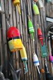 Lobster buoys Stock Image