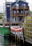 Lobster Buoys Royalty Free Stock Photos